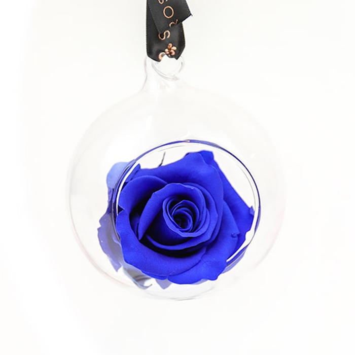 Blue Rose Bauble