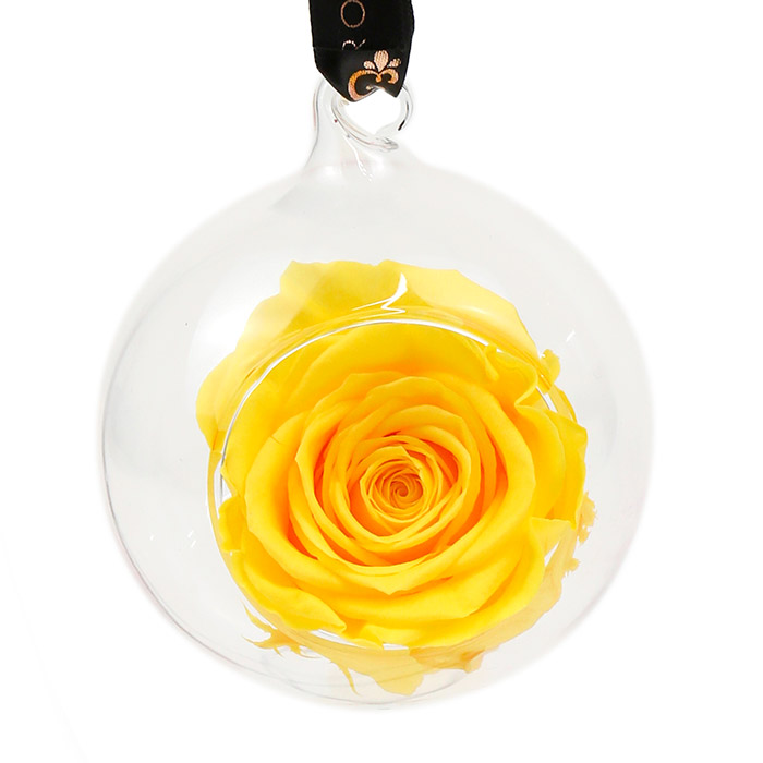Yellow Rose Bauble