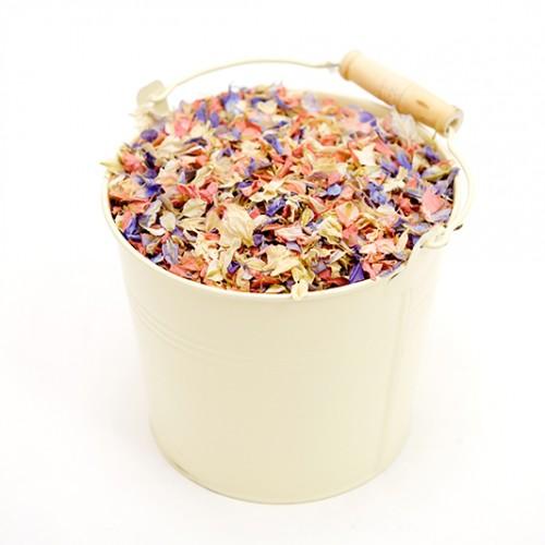 Cream Confetti Pail