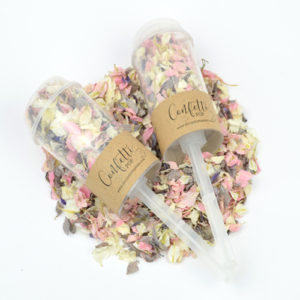Wholesale Kraft Confetti Pops filled with Vintage Daydream biodegradable petal confetti