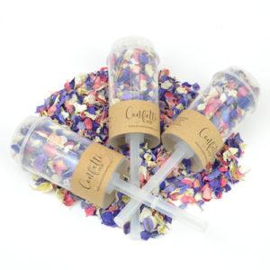 Wholesale Kraft Confetti Pops filled with Kaleidoscope biodegradable petal confetti
